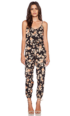 Jack by BB Dakota Jaylynn Vintage Rose Jumpsuit in Black