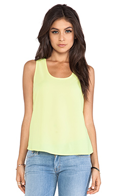 Jack by BB Dakota Leland Cut Out Tank in Limeade