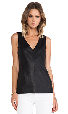 Dakota Collective by BB Dakota Lanis Leather Tank in Black