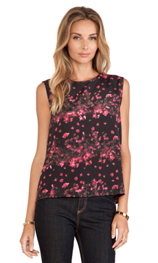 Jack by BB Dakota Jaclyn Printed Top in Black