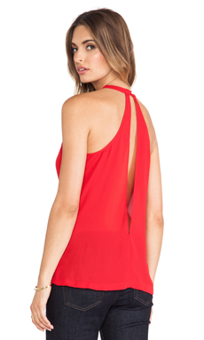 BB Dakota Gina Slit Back Top en Rouge