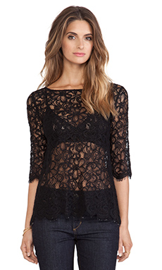 BB Dakota Cherlin Lace Top in Black