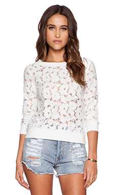 BB Dakota Lorne Lace Top in Ivory