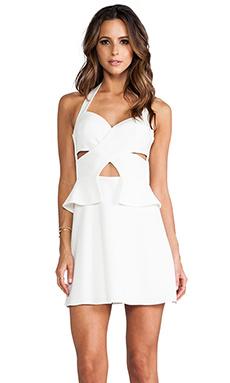 BCBGMAXAZRIA Denisa Dress in Off White