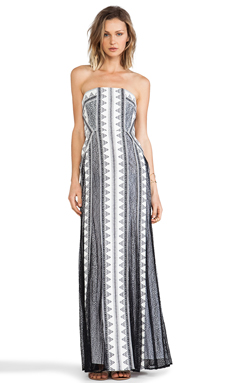 BCBGMAXAZRIA Kia Dress in Off White Black Combo