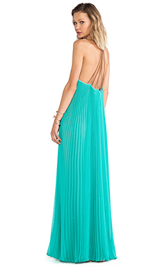 BCBGMAXAZRIA Brynna Maxi Dress in Turquoise