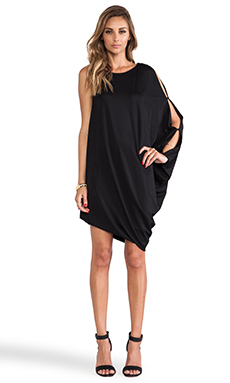BCBGMAXAZRIA Michaela One Sleeve Dress in Black