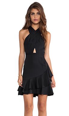 BCBGMAXAZRIA Cut Out Dress in Black Combo