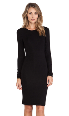BCBGMAXAZRIA Cut Out Dress in Black