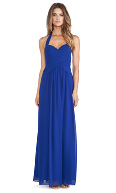 BCBGMAXAZRIA Selene Halter Dress in Royal Blue
