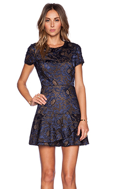 BCBGMAXAZRIA Marissa Dress in Black/Blue