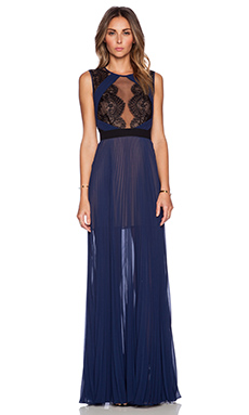 BCBGMAXAZRIA TBD Dress in Classic Blue Combo