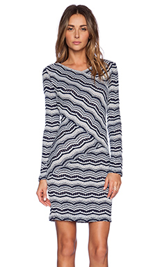 BCBGMAXAZRIA Melysa Dress in Dark Navy Combo