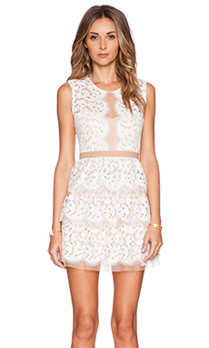 BCBGMAXAZRIA Sophea Dress in Off White