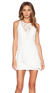 BCBGMAXAZRIA Hanah Dress in Off White