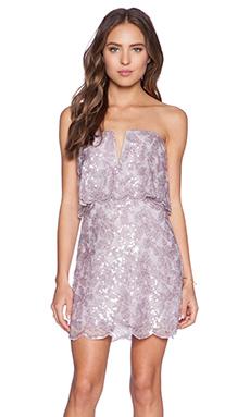 BCBGMAXAZRIA Kate Dress in Lilac Mauve Combo
