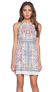 BCBGMAXAZRIA Cambria Dress in Gardenia Combo