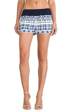 BCBGMAXAZRIA Teagan Shorts in Larkspur Blue Combo
