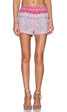 BCBGMAXAZRIA Connor Shorts in Fuchsia Combo