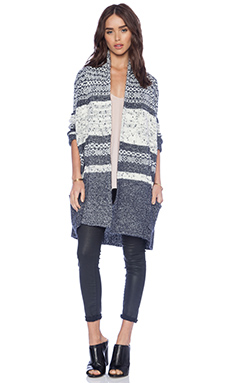 BCBGMAXAZRIA Shadia Cardigan in Blue Haze