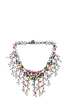 BCBGMAXAZRIA Multi Teardrop Necklace in Black Diamond Combo