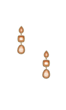 BCBGMAXAZRIA Drop Earrings in Pink Jade