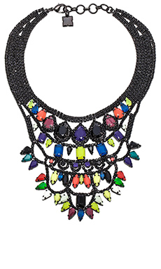 BCBGMAXAZRIA Pop Color Stone Necklace in Cobalt Blue Combo