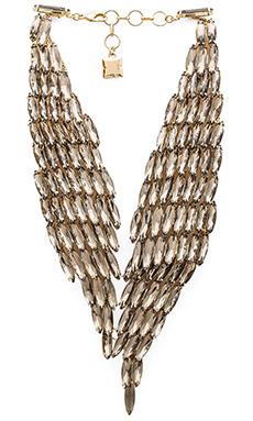 BCBGMAXAZRIA Stone Metal Necklace in Black Diamond