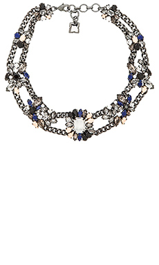 BCBGMAXAZRIA Metal Cluster Necklace in Black Diamond Combo