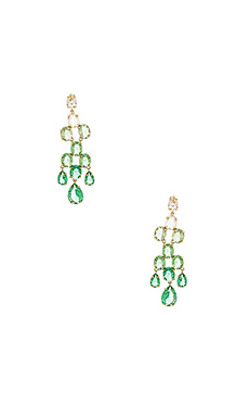 BCBGMAXAZRIA Ombre Metal Earring in Green Combo