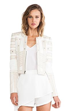 BCBGMAXAZRIA Cropped Jacket in Off White