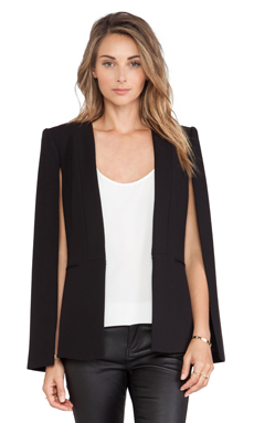 BCBGMAXAZRIA Upas Cape in Black