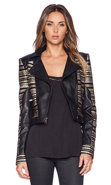 BCBGMAXAZRIA Leonardo Jacket in Black Combo