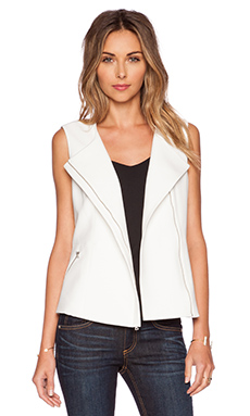 BCBGMAXAZRIA Mallary Vest in Off White