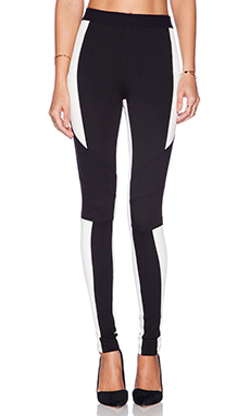 BCBGMAXAZRIA Jeremiah Pant in Black & Off White