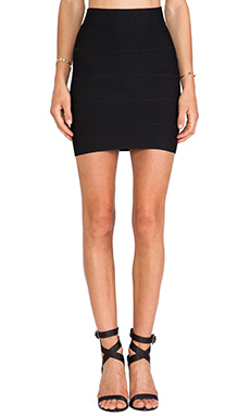 BCBGMAXAZRIA Mini Bandage Skirt in Black