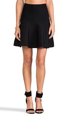 BCBGMAXAZRIA High Waisted Flare Skirt in Black