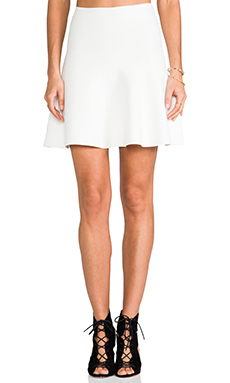 BCBGMAXAZRIA Fit and Flare Skirt in Gardenia