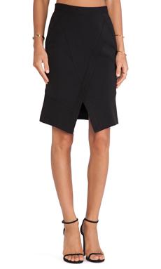 BCBGMAXAZRIA Taylon Wrap Skirt in Black