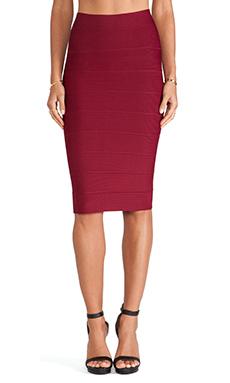 BCBGMAXAZRIA Leger Pencil Skirt in Deep Cranberry
