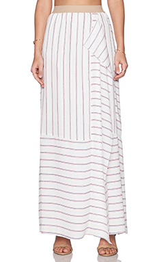 BCBGMAXAZRIA Harleigh Maxi Skirt in Off White Combo