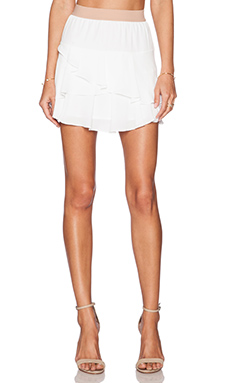 BCBGMAXAZRIA Ashleah Mini Skirt in White