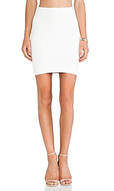 BCBGMAXAZRIA Mini Body Con Skirt in White