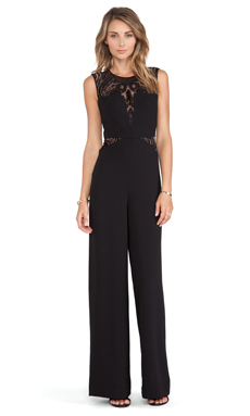 BCBGMAXAZRIA Laden Jumpsuit in Black