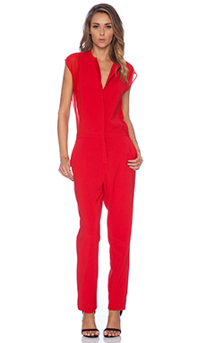 BCBGMAXAZRIA Arial Jumpsuit in Rouge Red