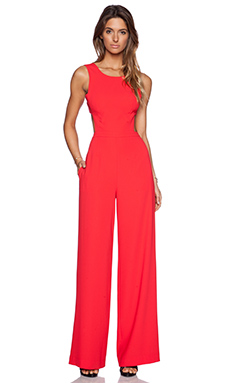 BCBGMAXAZRIA Rosanna Jumpsuit in Red Berry