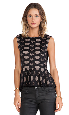 BCBGMAXAZRIA Kimie Top in Black