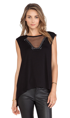 BCBGMAXAZRIA Delaney Tank in Black