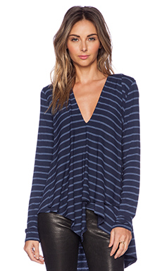 BCBGMAXAZRIA Trishna Top in Heather Blue