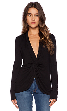 BCBGMAXAZRIA Eliana Top in Black
